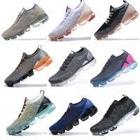 2018 2019 Chaussures MOC 2 Blach Lowless 2.0 Беговые Обувь Тройной Черный Дизайнер Мужские Женщины Кроссовки Летать Белые Вязаные Подушки Trainers Zapatos36-45