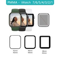 PMMA 3D Full Cover Protective Film Ultra Slim Exact Fit For Apple Watch 7 Series 41 45mm Screen Protector iWatch 6 5 4 3 2 1 SE Not Glass
