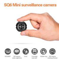 Kameralar Eastvita SQ6 Mini Kamera HD 1080 P Gece Görüş 2MP Gözetim Hareketi Dahili Pil Taşınabilir Kamera
