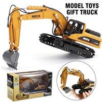 1:50 RC Escavatore auto Diecast Lega Ingegneria Modello di veicolo Modello RC Cars Toys Monster Truck Burgy Off-Road Cool Boy Toys Giocattoli Bambini Regali Q0726