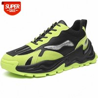Spring 2021 Running Shoes Men Green White Youth Leather Gym Shoe Designer Mens Sports Trainers Anti Slip Men Sneakers #4q0h