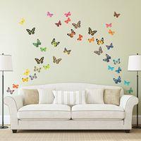 Бабочка 3D Модные Украшения Стены Наклейки ПВХ Съемные Высококачественные Уотели WLL41