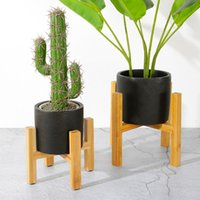 Planters & Pots Wood Durable Planter Pot Trays Flower Rack Strong Free Standing Bonsai Holder Home Garden Indoor Display Plant Stand Shelf