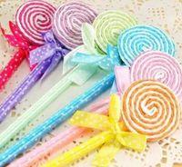 New Novelty Lollipop Ballpen Kawaii pens Stationery office and study Cartoon pens Colorful ballpoint pen Gifts 24pcs lot dfF5992