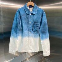 21 جديد نمط الرجال قميص الربيع والصيف تريند نمط قمم الأزياء مطابقة النجوم السماء إلكتروني نمط جودة عالية الدنيم قميص WF2103122