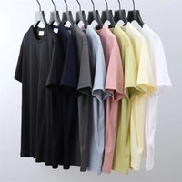 Бренд мужская футболка толстовка лето классический Classic Tee маленький патч модный дизайн стиль 5 цветов м-3XL 2ns80