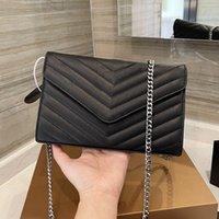 Echtes leder handtasche kommt mit box woc kette tasche frauen luxurys mode designer taschen weibliche kupplung klassische hochwertige mädchen handtaschen 025