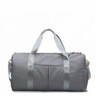 LU yoga sports fitness bag big capacity travel bag handbelry shoulder diagonal bag dry wet separation