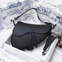 Handtaschen Matte Satteltaschen 2021 Mode Neue Brief Umhängetasche Hohe Qualität Echtes Leder Messenger Bags Designer Crossbody Geschenkbox