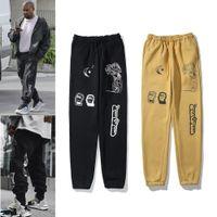 Brand Europeo e Americano Kanye Stest Tie Dye Gedged Sports Moda Donna Nuovo Pantaloni Casual Pantaloni casual allentati Tube dritta