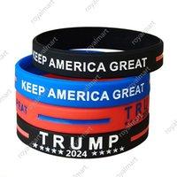 Trump 2024 Pulsera de silicona Favor de la Partida Mantenga América Gran pulsera