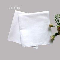 41cm * 41cm carréfreuls carrés 100% coton hankerchiefs pure femmes blanches hommes poche bricolage bricolage imprimer dessiner hankie