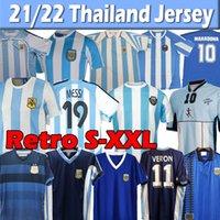 Argentinien Retro Jersey 1986 Maradona Champion Version 1978 1985 1994 1996 1998 2006 2010 2010 2010 Klassische Vintage + Kinder Kits Fußballhemden