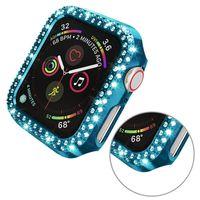 Diamond Pac de placage pour la montre Apple 5 4 3 2 1 Couverture de protection colorée 38mm 42mm 40mm 44mm Smart Iwatch