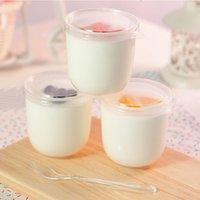 200ml genomskinlighet plast efterrätt yoghurt kopp med lock disponibel pudding kopp bageri takeaway mousse paket skål kkb7691