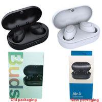الهواء 3 براعم الأذن سماعات TWS ميني لاسلكي بلوتوث 5.0 سماعات Air3 سماعات رياضية مع ميكروفون سماعات ألعاب ستيريو للألعاب للهاتف الذكي