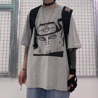 Erkek T-Shirt Anime Naruto Pein Baskı T-Shirt Erkekler Kadınlar Için Japon Harajuku Tshirt Ulzzang Kore Tee Top Giysileri Streetwear Yaz