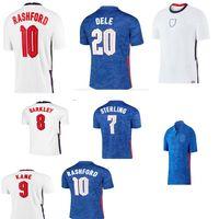 New2020 2021Dhailand Soccer Jersey Euro Cup Kane Sterling Rashford 20 21 Equipos nacionales Camisas de fútbol Juego de hombres Uniforme