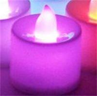LED Vela Tealight Vela sin llama Té Luz Colorida Batería Operar Lámpara Cumpleaños Boda Fiesta Decoración de Navidad Luz 239 S2