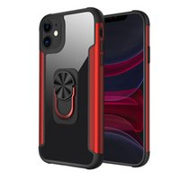 Armor Phone Cases For Iphone 13 Pro Max 12 Mini 11 Compatible Samsung Motorola Cellphone Case Transparent Hybrid Metal PC TPU Ring Kickstand Back Cover