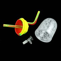 Cooling Cup Bubbler Hookah Tobacco Smoking Dab Rig Glass Water Pipes 10pcs
