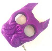 Yeni Kaplan Kafası Anahtarlık Kaplan Kafası Plastik Çelik Parmak Kaplan Plastik Parmak Yüzük Mini Kız Öz Savunma Parmak Yüzük02