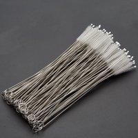 Üretici toptan paslanmaz çelik pipet paslanmaz çelik tüp temizleme fırçası saman fırçası 240 * 50 * 10mm