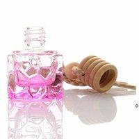 colorful square portable micarni glass perfume bottle LJD10890