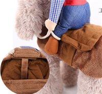Tasarımcı Köpek Giyim Pet-Suit-Cowboy Rider Stil Ceket Yavru Noel Giydir Kostüm Şapka Cadılar Bayramı Cosplay Ceket Köpekler için 2121 V2