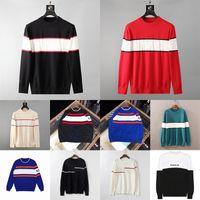 22SS MENS Designer Suéteres Moda Hombres Marca Invierno Estilista Suéter Casual Contraste Color Chaqueta de Punto O-Cuello Puentes Tamaño Asiático M-XXL