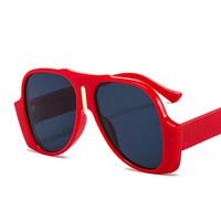 Retro Große Rahmen Sonnenbrille Männer Frauen Hip-Hop Trend Frosch Spiegel Mode Persönlichkeit Party großzügig FullFrame Farbe Vielfalt der Farbtöne Winddicht 9113 Komfortabel