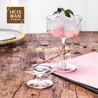 Goblet Creative Transparent Cold Drink Cup Lead-free Crystal Glass Tulip Vertical Ice Cream Bowl Bar Cocktail Cup
