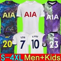 S - 4xl 21 22 22 2 22 Dele Filho Tottenham Romero Bale Kane Jersey Hojbjerg Bergwijn Lucas Lo Celso Camisa de Futebol Ndombele 2021 2022 Men + Kit Kit uniformes