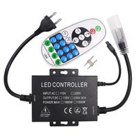 1500W Alimentatore 110 V 220V Dimmer Controller LED con 23key IR Remote EU / Stati Uniti Plug per lampada a striscia a LED a colori singolo 100m