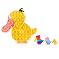 DHL FREE Colorful Cute Cartoon Duck Sensory Toys Silicon Ducks Bubble simple fidget toy For Kids YT199502