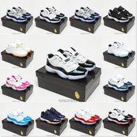 [Pulseira + meias + caixa original] Air Jordan 11 Jordans AJ11 shoes jumpan 11 sapatos de basquete homens sneakers ginásio vermelho gs meia-noite marinho 'ganhar como 82' espaço