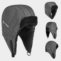 Cappellini da ciclismo Maschere Cappello in pile caldo Sport Sport Unisex Inverno Sci Inverno Antivento Antivento Cap Termico per ciclo Entratainment