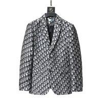 클래식 인쇄 남성용 정장 재킷 Instagram 패션 까마귀 트렌치 디자이너 여성 캐주얼 방진 의류 가을 성격 매력 블레이저 코트