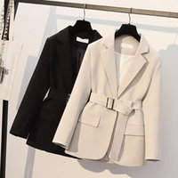 Women's Trench Coats Spring Autumn Office Ladies Blazer Jacket Women One Button Solid Color Suit Coat Elegant Fashion Outwear With Belt