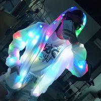 LED-Jacke Beleuchtungsmantel Leuchtende Kostüm kreative wasserdichte Tanzlichter Weihnachtsfestkleidung