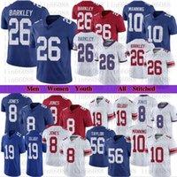Männer Frauen Jugend Fußball 26 Saquon Barkley 8 Daniel Jones 19 Kenny Golladay 10 Eli Manning Trikots