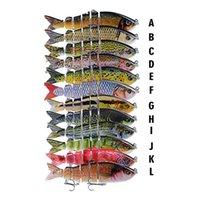 Приманки приманки Спорт Спорт Outdoorsrealistic MTI-Соединенный 3D Рыба Шесть сегментированного тела Рыболовные приманки 12 см 18,5 г S-образное плавание LASER LASER MUSKY