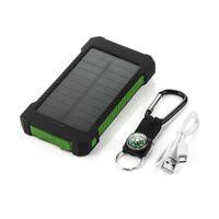 20000mAh Solar Power bank for iPhone Samsung Xiaomi External Battery Waterproof 2 USB LED Light Powerbank