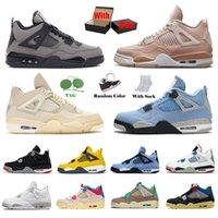 상자 포함 Nike Air Jordan Retro 4 OFF White Sail 남성 여성 농구화 Jordans 4s Jumpman AJ University Blue Travis Scott Manila What The IV 스포츠 스니커즈 트레이너