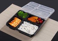 شحن مجاني 4 مقصورات الغذاء الصف pp يسلب صناديق التعبئة الغذائية عالية الجودة المتاح بينتو مربع ل فندق