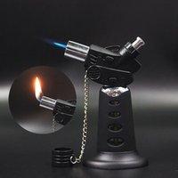 Neueste Jet Fackel Feuerzeug Einstellbare Flammenschweißen Butangas Nachfüllbare Feuerzeuge mit Abdeckung können Feuerküchenwerkzeuge einstellen