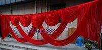 6 متر (20ft) swags واسعة للخلفية حزب الخلفية السادس الزفاف backcloth المرحلة الستار خلفية ديكورات مصمم