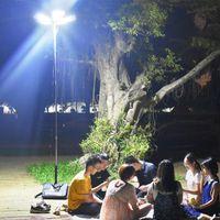 Lanterne d'extérieur DC 12V LED Éclairage étanche Éclairage Éclairage Lampe de tige portable pour la circulation de la route COB Lampe de pêche