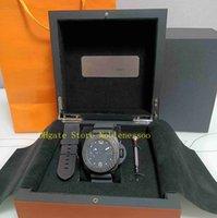 원래 상자 시계와 함께 진짜 사진 남자 클래식 47mm 검은 얼굴 고무 스트랩 1950 팸 00616 아시아 이동 자동 기계식 망 시계