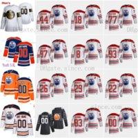 Homens Mulheres Crianças Connor McDavid 97 Edmonton Oilers 2021 Reverse Retro Wayne Gretzky Kassian Oscar Klefbom Adam Larsson Leon Draisaitl Quine Koskinen Jersey Goalie Corte